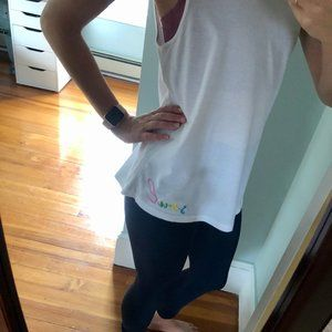 soulcycle Tops - MONROW x SOULCYCLE White SOUL Embroidered Shirt